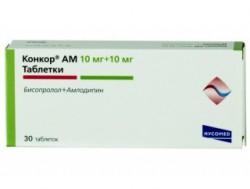 Конкор АМ, табл. 10 мг+10 мг №30