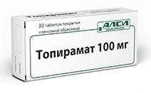 Топирамат-АЛСИ, табл. п/о пленочной 100 мг №30